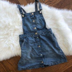 Denim Overall Dress, NWT